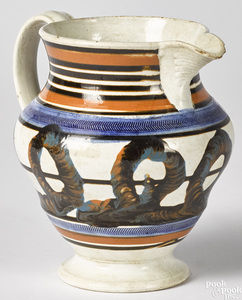 Mocha pitcher with earthworm decoration