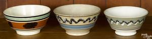 Three mocha bowls