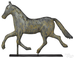 Large swell bodied copper horse weathervane