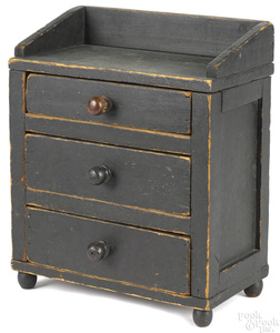 Miniature Pennsylvania painted chest of drawers