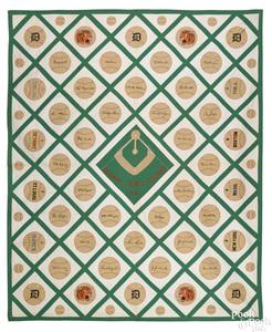 Very rare baseball theme quilt