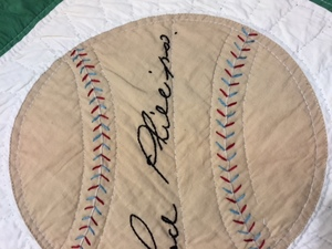 Very rare baseball theme quilt