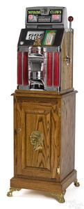 Jennings Nevada Club's 25-cent light-up slot machine