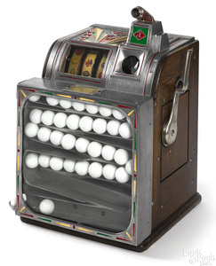 Jennings 25-cent golf ball vendor slot machine