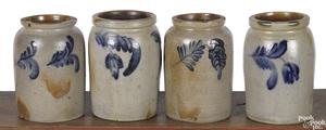 Four Pennsylvania stoneware crocks, 19th c.