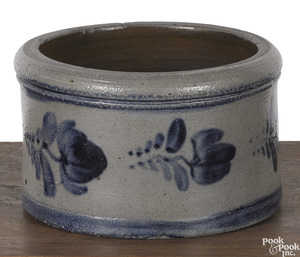 Stoneware butter crock, 19th c.