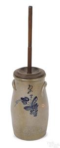 Stoneware churn, 19th c.