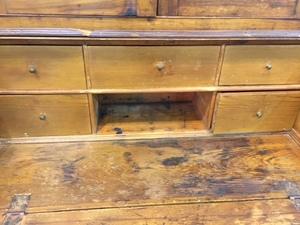 Southern Chippendale butternut secretary desk