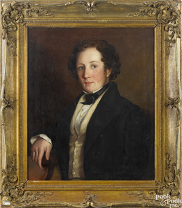 American oil on canvas portrait