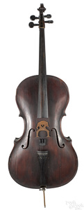 Important American maple cello, dated 1763