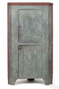 Pennsylvania painted poplar corner cupboard