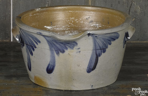 Pennsylvania stoneware batter crock, 19th c.