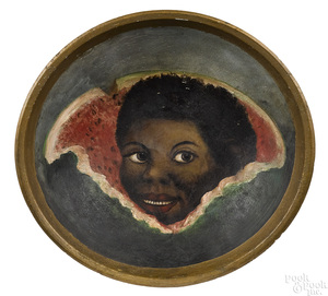 African Americana turned and painted bowl
