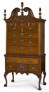 Philadelphia Chippendale walnut high chest