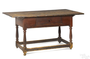 Pennsylvania painted pine tavern table