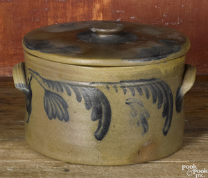 Philadelphia Remmey stoneware lidded cake crock