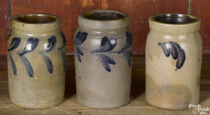 Three Philadelphia Remmey stoneware crocks