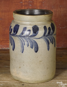 Philadelphia Remmey stoneware crock, 19th c.