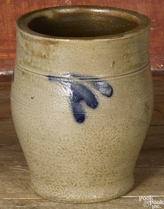 Small Philadelphia Remmey stoneware crock, 19th c