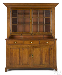 Pennsylvania walnut Dutch cupboard, ca. 1810