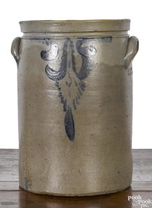 Virginia stoneware crock, 19th c.