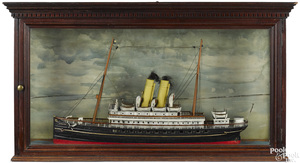 Painted ship model of the Emden, late 19th c.