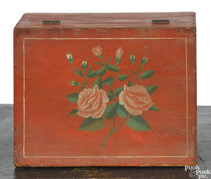 Painted dresser box, 19th c.