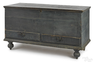 Pennsylvania painted poplar blanket chest