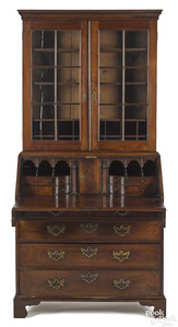 Chippendale walnut secretary desk, ca. 1770