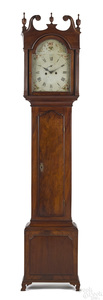 Mid-Atlantic Federal mahogany tall case clock