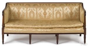 Mid-Atlantic Sheraton mahogany sofa, ca. 1810