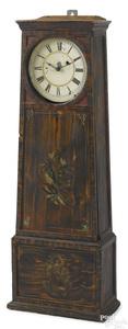 Massachusetts painted pine wall clock