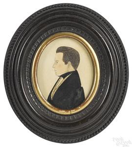 American watercolor portrait of a gentleman