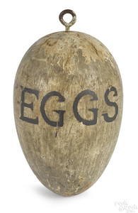 Painted Eggs trade sign, 19th c.