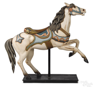American carved and painted carousel horse