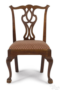 Mid Atlantic Chippendale walnut dining chair