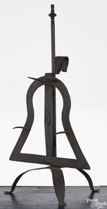 Wrought iron roaster, ca. 1800