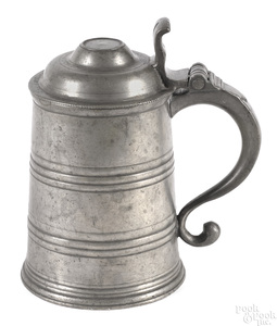 Philadelphia pewter tankard, ca. 1805