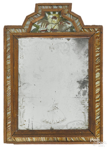 Pine courting mirror, mid 18th c.