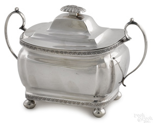 Philadelphia silver covered sugar, ca. 1810