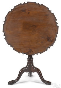 George III mahogany piecrust tea table, ca. 1765