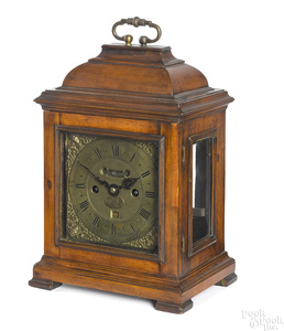 George II pearwood bracket clock, ca. 1730