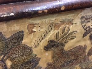 Charles II stumpwork panel, late 17th c.