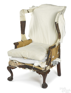 George III mahogany wing chair, ca.1770