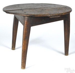 English oak low table, 18th c.