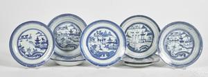Eighteen Chinese export porcelain Canton