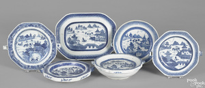 Six Chinese export porcelain Canton and Nanking