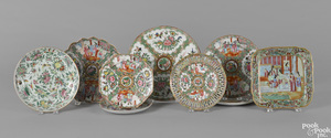Nine pieces of Chinese export porcelain
