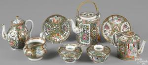 Chinese export porcelain rose medallion teawares