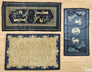 Six Chinese mats, early/mid 20th c.